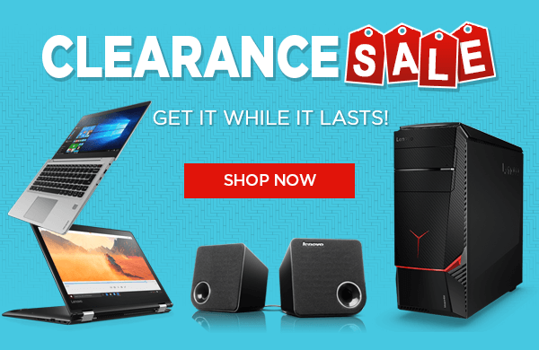 Find more Lenovo systems at our Clearance Sale
